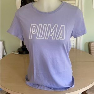 Vintage PUMA lilac cotton T-shirt